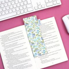Marcador de páginas Floral Azul