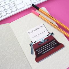 Caderno Library Card Letturale - PRONTA-ENTREGA