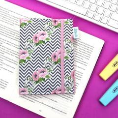 Capa para Kindle PaperWhite Flores e Chevron - PRONTA-ENTREGA