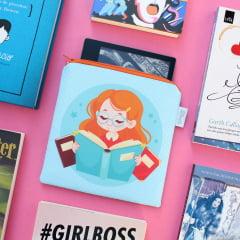 Case para Kindle Oasis Leitorinha - PRONTA-ENTREGA