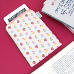Case para leitor digital Cupcakes - PRONTA-ENTREGA