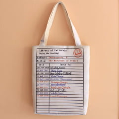 Tote Bag Library Card Letturale
